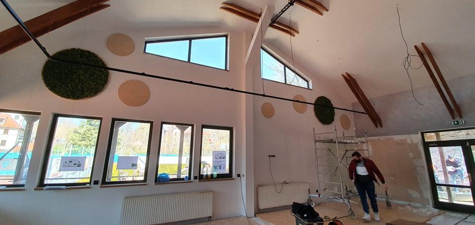 Mechová stěna, islandský lišejník, mechové dekorace pro restaurace a hotely
