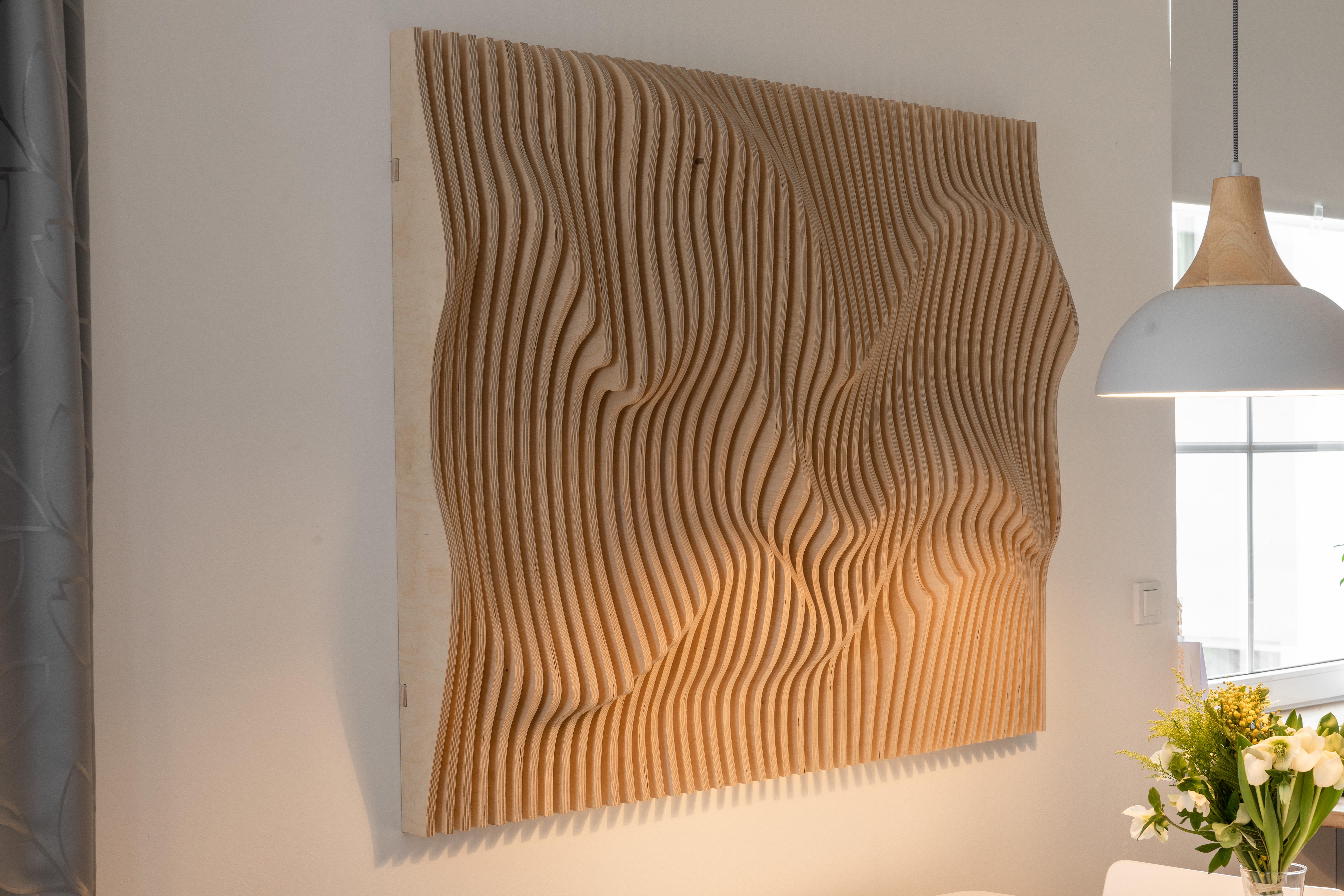 parametrická stěna, design, dřevo , ineterier, wood design, parametric wall